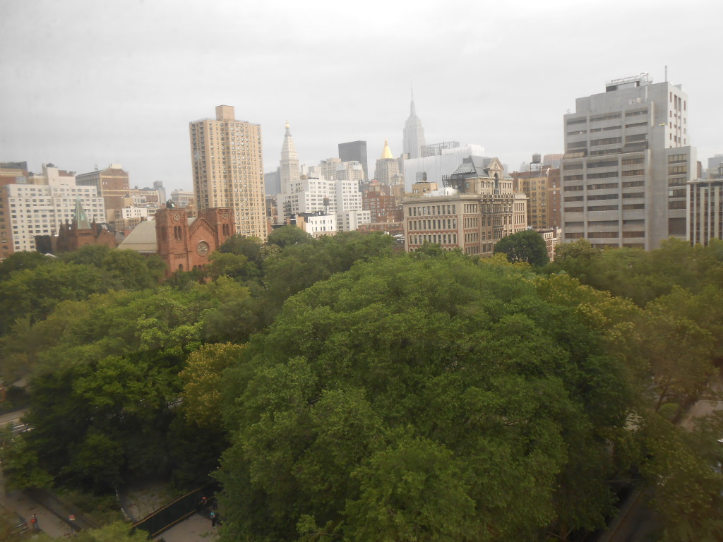 View of New York from 10th  floor of the New School's Stuyvesant Dormitory opposite Stuyvesant Square.